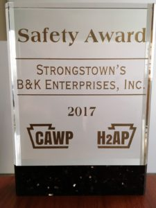 B&K's 2017 Safety Award